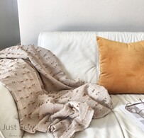 Mustard Tuft Throw