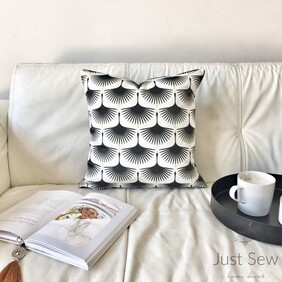 Deco Swans Velvet Cushion