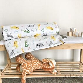 Safari Pals Cotton Cot Cover
