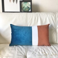 Trio Stripe Teal/Rust Cushion