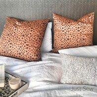 Cheetah Sateen Euro Pillowcase Pair