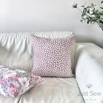 Seeing Spots Dusky Rose Cushion