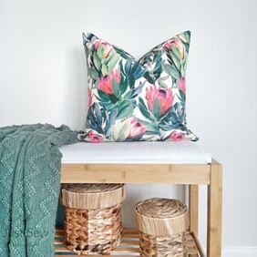Protea Velvet Cushion