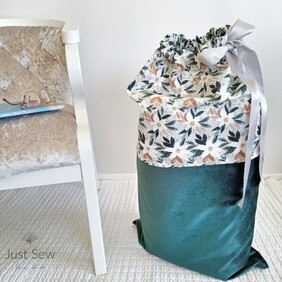Floral Emerald Christmas Sack
