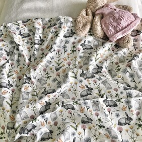 Some Bunny Cotton Cot Cover