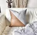 Linen + Leatherette Cushion