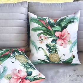 Hibiscus Outdoor Cushion