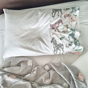 Pretty Ponies Edged Pillowcase