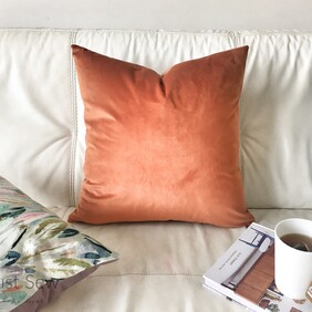 Velvet Rust Cushion