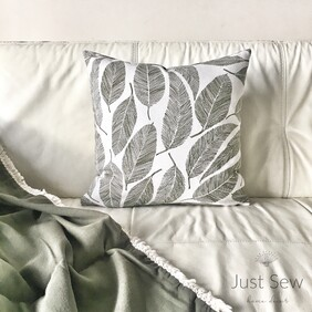 Skeleton Leaves Cushion